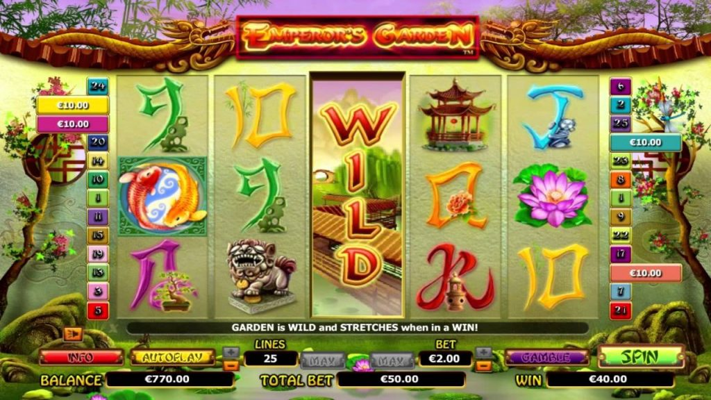 Introduction to Emperors Garden Five-Reel Slot by NextGen