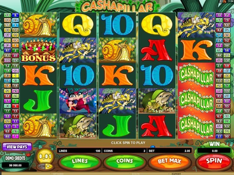Cashapillar Five-Reel Online Slot by Microgaming