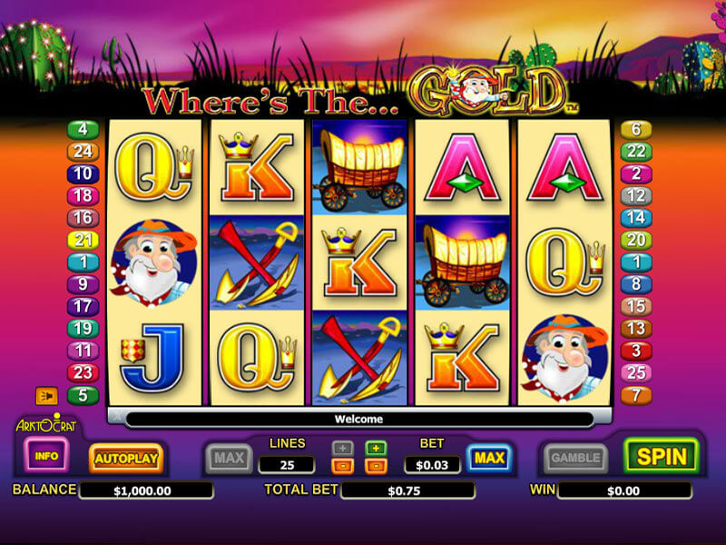 Gold Online Video Slots Game